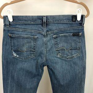 7 FAM Straight Leg Jean, Distressed, Tall!